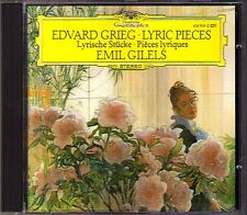 Emil GILELS: GRIEG Lyrische Stücke Lyric Pieces DG CD 1987 Berceuse Butterfly