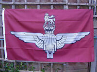 British Army Parachute Regiment Para Beret Badge On Military Maroon Colour Flag