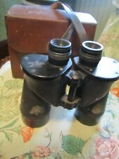 WW2 ANCHOR OPTICAL BINOCULARS 7X50 LEATHER CASE AND STRAP