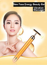 New Face Energy Beauty Bar Vibration Massager Gold Anti-aging Skin Care Wrinkles