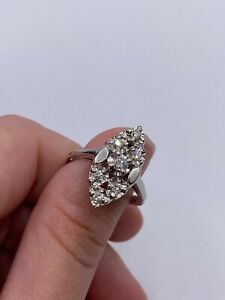 Solid 14k Gold Ring with Diamonds