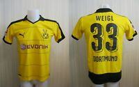 "Borussia Dortmund #33 Weigl 2015/2016 Home 34/36"" BVB Puma jersey shirt football"