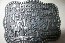 2007 Hesston National Finals Rodeo Adult Belt Buckle, Free ship