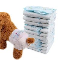 10PCS Dog Pet Nappy Diapers Disposable Puppy Female Sanitary Pants Underpants