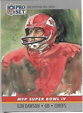 1990 Pro Set Len Dawson Super Bowl IV MVP card, Kansas City Chiefs HOF