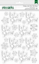American Crafts Holiday- Silver Glitter Stickers 340554