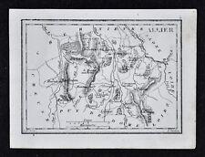 1833 Perrot Tardieu Map  Allier Province La Palisse Vichy Moulins Gamat - France