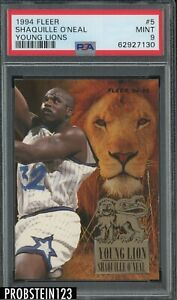 1994 Fleer Young Lions #5 Shaquille O'Neal Orlando Magic HOF PSA 9 MINT