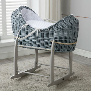 MCC® Full Set Moses Wicker Cocoon Pod Basket Mattress Bedding set Rocking Stand