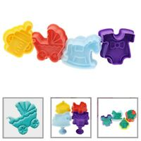 4Pcs/Set Baby Cookie Biscuit Plunger Cutter Mould Fondant Cake Mold Baking Decor