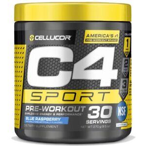 C4 Sport Pre-Workout - Blue Raspberry - 9.5oz