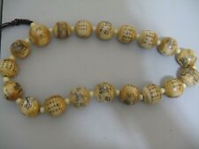 VINTAGE JAPANESE? CARVED PRAYER / NECKLCE/ BEAD   SCARSE!!