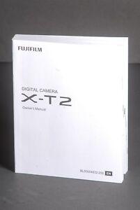 Fuji Fujifilm Genuine X-T2 Camera Instruction Book / Manual / User Guide