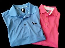 FootJoy Athletic Fit FJ Collar Golf Polo Shirt Sky Blue Mens Size M