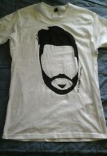 Tultex Size L. White With Face T-Shirt.100% Pre-Shrunk.