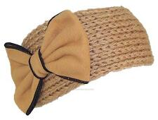 Best Winter Hats Womens Knit Headband W/Large Bow, Wrap, Warmer, #439 Khaki