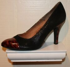 Sofft Womens Black and Brown Animal Print Pumps Heels Sz US 8