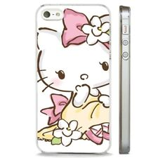 Hello Kitty Pink Floral CLEAR PHONE CASE COVER fits iPHONE 5 6 7 8 X