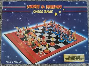 Vintage 1995 Disney Mickey Mouse & Friends Chess Game Set