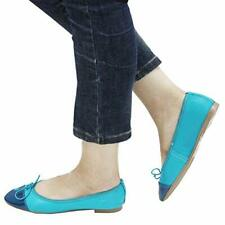 Women's 100% Real Leather Ladies Pumps Flat Shoes Loafers Ballerina