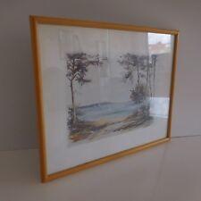 Peinture aquarelle watercolor painting seascape Francis SAURE paysage marin