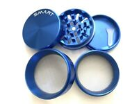 2.5 Inch Aluminum Large 5 Layer Tobacco Smoke Grinder Spice Herb Crusher Blue