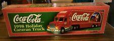 New 1998 Coca-Cola Santa Pack Holiday Caravan Truck ~ Detachable Trailer, Lights