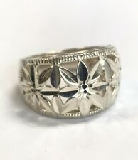 Sterling Silver Open Cut Dome Ring ~ Size 7 ~ 5.2g ~