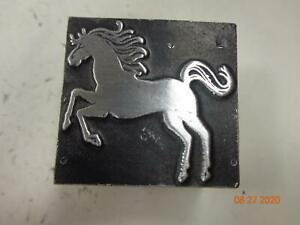 Printing Letterpress Printer Block Decorative Horse Prancing Print Cut