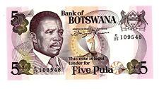 Botswana ... P-3a ... 5 Pula ... ND(1976) ... *UNC *