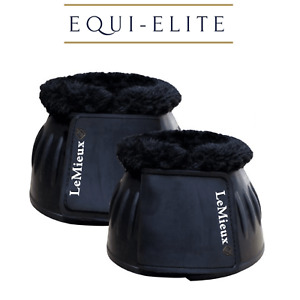 LeMieux Rubber Bell Boots - Over Reach Boots with Fleece Collar