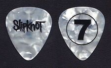 Slipknot Mick Thomson #7 White Pearl Guitar Pick - 2008 Tour