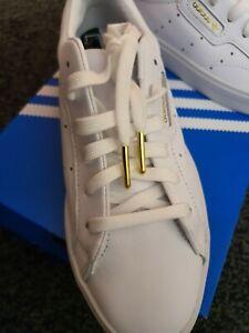 Genuine Adidas Womens Sleek Court Trainers White UK4/US5.5/EU36.5 BNIB