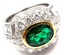 Rare! Authentic Patek Philippe Platinum Diamond Emerald Ring Certificate