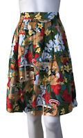 GRACE KARIN SIZE (8) PLEATED 50`S STYLE PRINTED SKIRT NEW