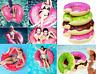 120CM Inflatable Swim Ring Fun Bite Shape Donut Swimming Pool Water Float Raft