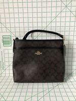 Coach F29210 File Bag Messenger Crossbody Bag Purse Handbag Brown/Black