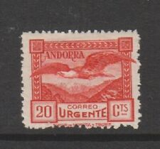 More details for spanish andorra - 1928, 20c red express letter, bird stamp - m/m - sg e15 (b)