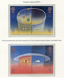 S3002) UK Great Britain 1991 MNH Europa, Space Exploration 2x2v