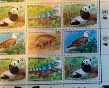 United Nations Endangered Species stamps 3 mini sheets MNH Panda