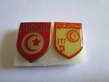 b1 lotto 2 spille TUNISIA football federation association team pins lot