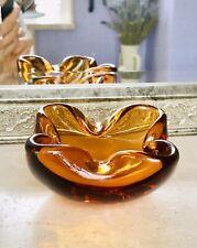 Murano Barovier ? 60er 70er Jahre Aschenbecher Schale Glas Gelb