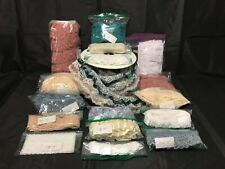 *Crafting Trims* : Mixed Lot of Lace, Eyelet, Satin (approx. 73+ Total Yards).