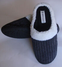 Soft Furry Warm Comfy Men Corduroy Winter Slippers Home Indoor Shoes 6628 BLKSz7