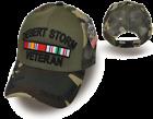 Внешний вид - DESERT STORM VETERAN MESH CAP HAT WITH RIBBONS MILITARY OLIVE AND CAMOUFLAGE