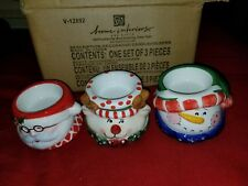 Home Interiors 2004 Set of 3 Christmas Decorative Votive Candle Holders