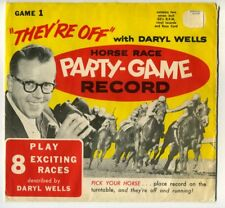 """2 Games """"THEY'RE OFF"""" WITH DARYL WELLS HORSE RACE PARTY-GAME RECORD 1965 CHCH"""