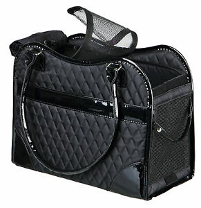Trixie Tasche Amina 18 × 29 × 37 cm schwarz Chihuahua Yorkshire