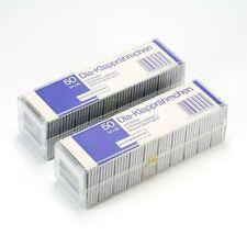 ALFI 24x36 Slide Mounts 3mm w/ Anti Newton Glass Hinged 100 Pcs - New Old Stock