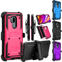 For LG G6 G7 G8 ThinQ Case With Kickstand Clip Shockproof Hybrid Holster Cover